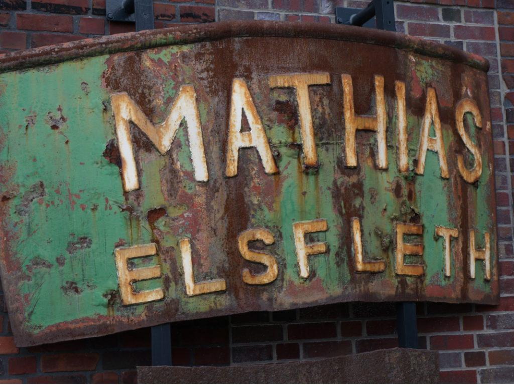 Windstärke 10 Wrack- und Fischereimuseum Cuxhaven: Schild der Mathias Elsfleth, die 1997 sank