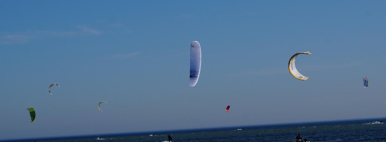 Kitesurfer vor Neustadt