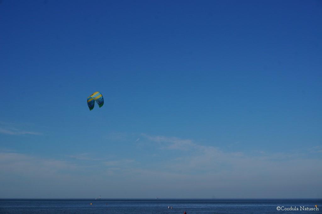 Kitesurfer vor Cuxhaven