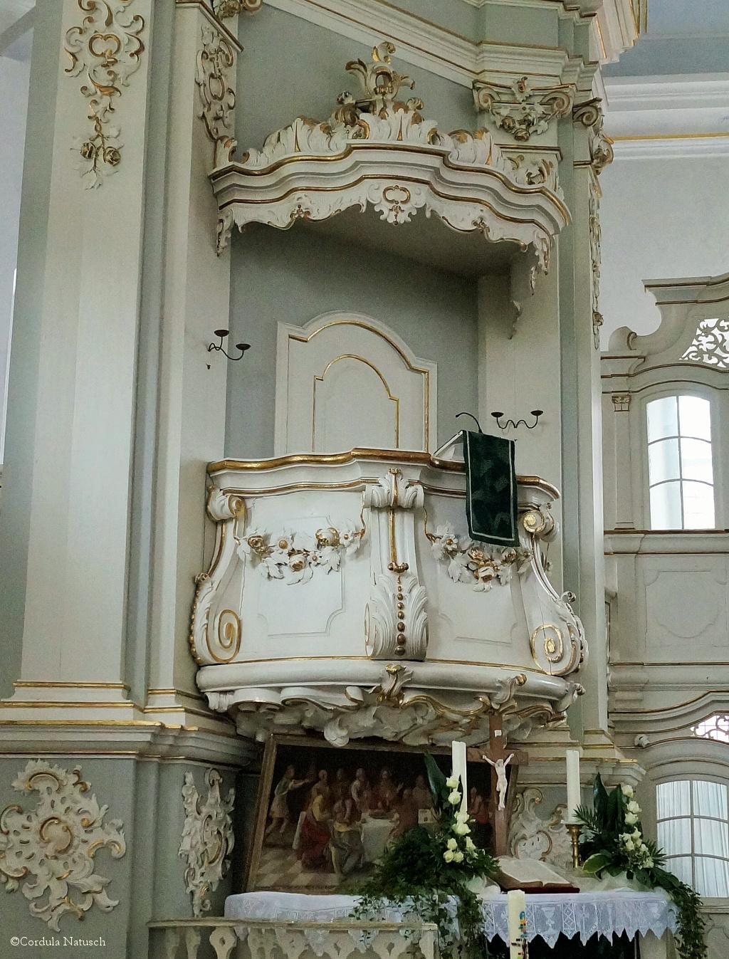 Kanzel in der Kirche St. Petri in Osten